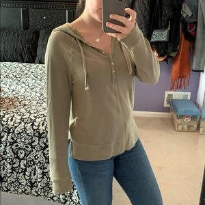 Army green aerie sweater
